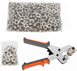 WUPYI Grommets Machine,Portable Handheld Grommets Punching Machine Hand Press Tool with 500pcs 3/8