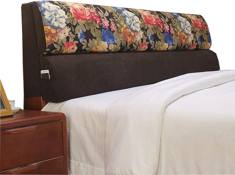 Tête de lit double en tissu avec dossier grand, coussin de taille sans dossier pour tête de lit souple, coussins de lit amovibles lavable, 4 couleurs, 5 tailles (taille   D 160cm)