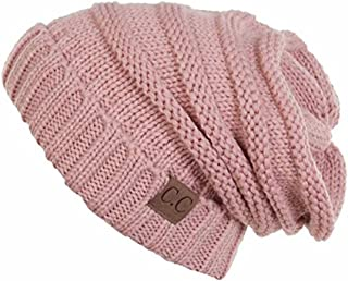 AIJIAO Winter Hats Women Cap Crochet Knit Thermal Slouchy Beanie Hat
