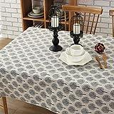 Morbuy Rectangle Mantel de Lino de algodón Antimanchas, Arbol de la Vida Mantel...