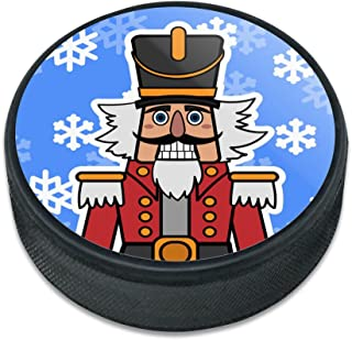 GRAPHICS & MORE Grinning Nutcracker Soldier with Snowflakes Ice Hockey Puck