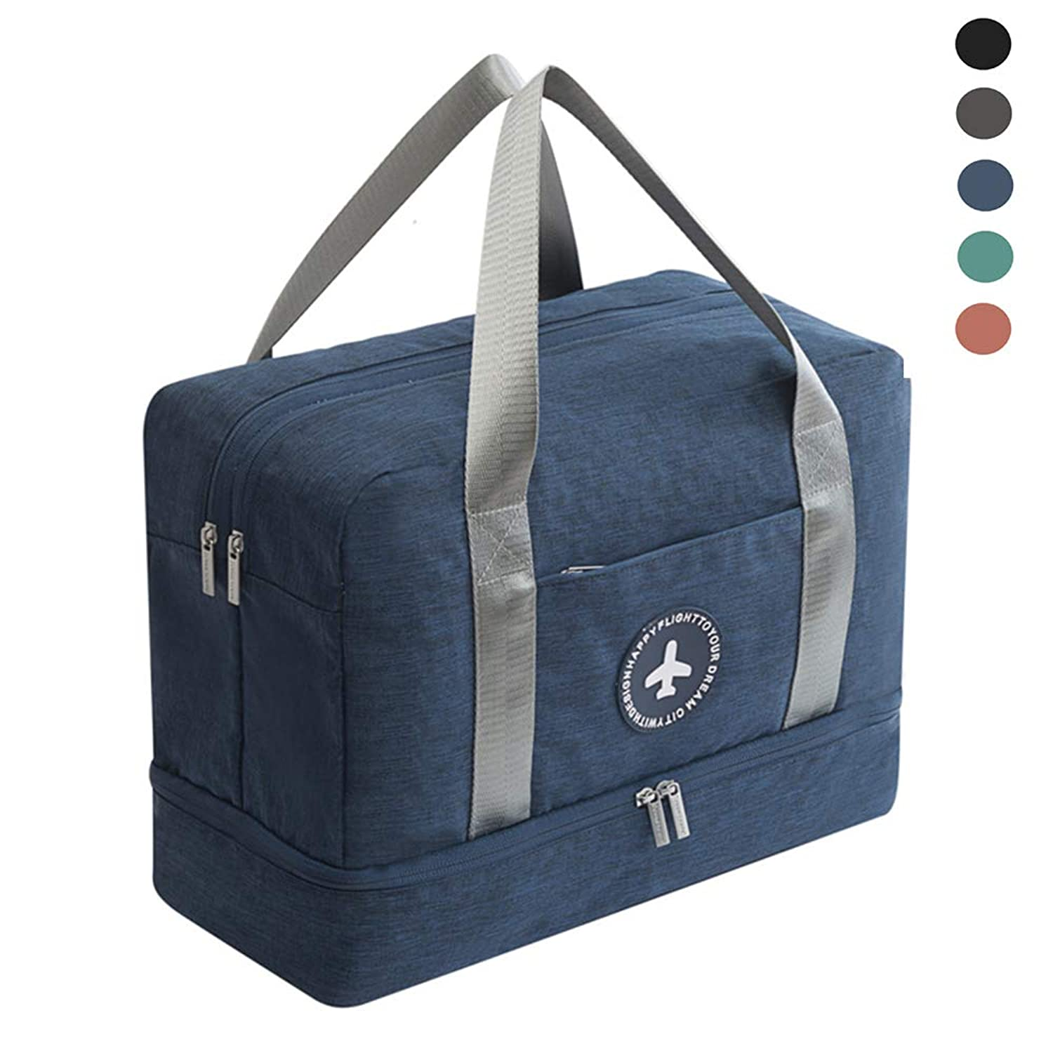 CHYOUL Women Mens Dry Wet Depart Bag with Separate Compartment for Shoes Waterproof Liner Functional Multipurpose Durable Travel Organizer Gym Beach Weekender Tote Navy uwdurl9703682
