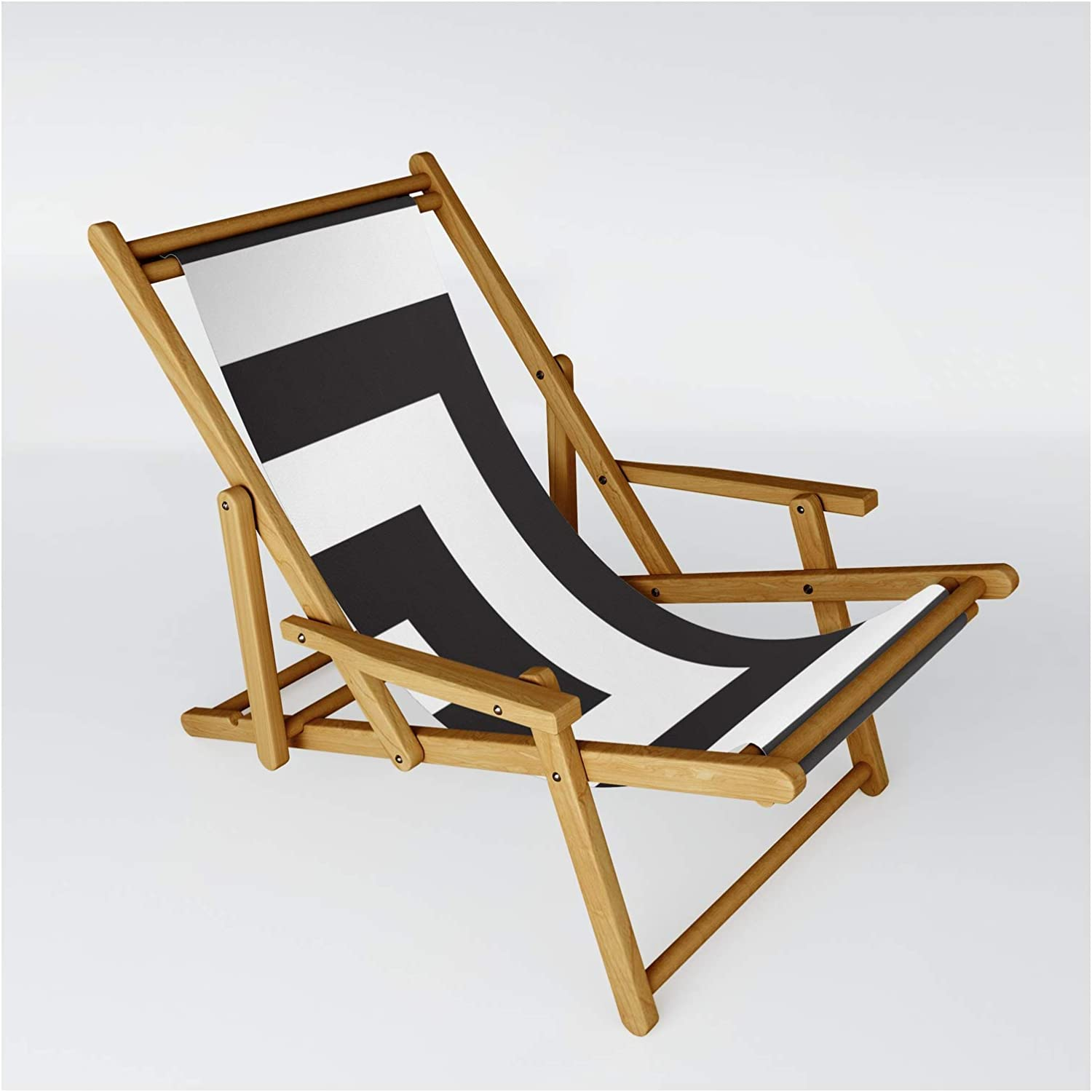 Black Greek Stripes by Caitlin Special price for a limited time Workman on - One Size Sling Chair Super sale period limited