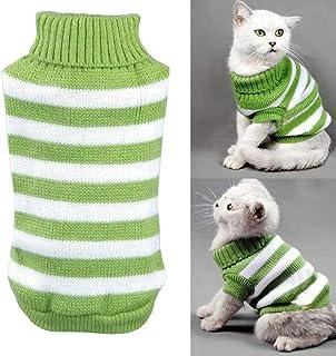 Yongqin kotek ubrania sweter dla kota, zimowy kostium zwierzęcia domowego kota sweter wysoka rozciągliwość wygodny dla mał...