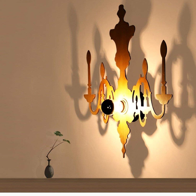 JU Wandleuchte Skulptur Schatten Wandleuchte Kreative Persnlichkeit Dekorative Kunst Wohnzimmer Schlafzimmer Holz Wandleuchten