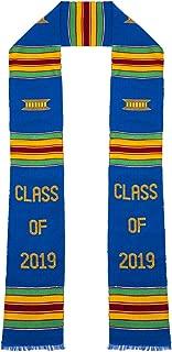 Class of 2019 Kente Cloth Graduation Stole (Blue)