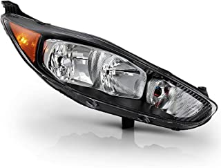 ACANII - For 2014-2018 Ford Fiesta S SE ST Black Housing Headlight Headlamp Assembly Replacement Right Passenger Side