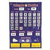 学習リソースカレンダー、天気ポケットチャート(セットof 3)