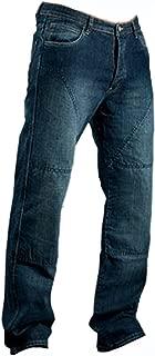 Hombre Motocicleta Pantalones Moto Pantalón Mezclilla Jeans con Protección Aramida Azul