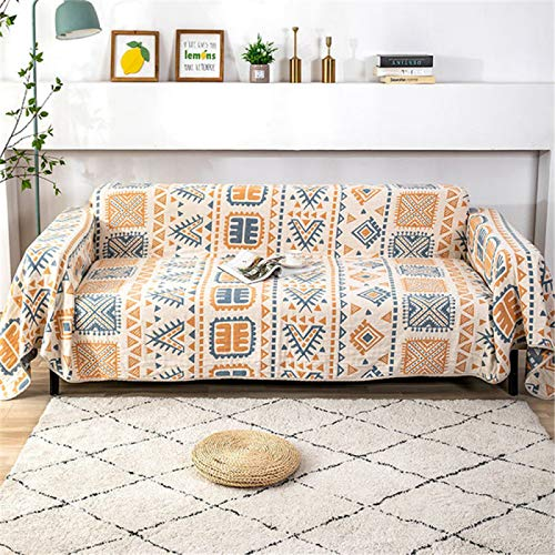 Asciugamano per Divano Moderno E Semplice, Copridivano Universale in Cotone, Copridivano per Casa A Quattro Strati