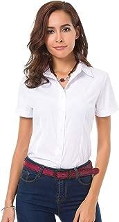 Best casual white button down shirt women's Reviews