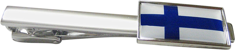 Thin Bordered Finland Square Tie Clip