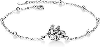 ONEFINITY Sterling Silver Beads Bracelet Dragonfly Sloth Sunflower Bracelet for Women Girls Jewelry Gifts