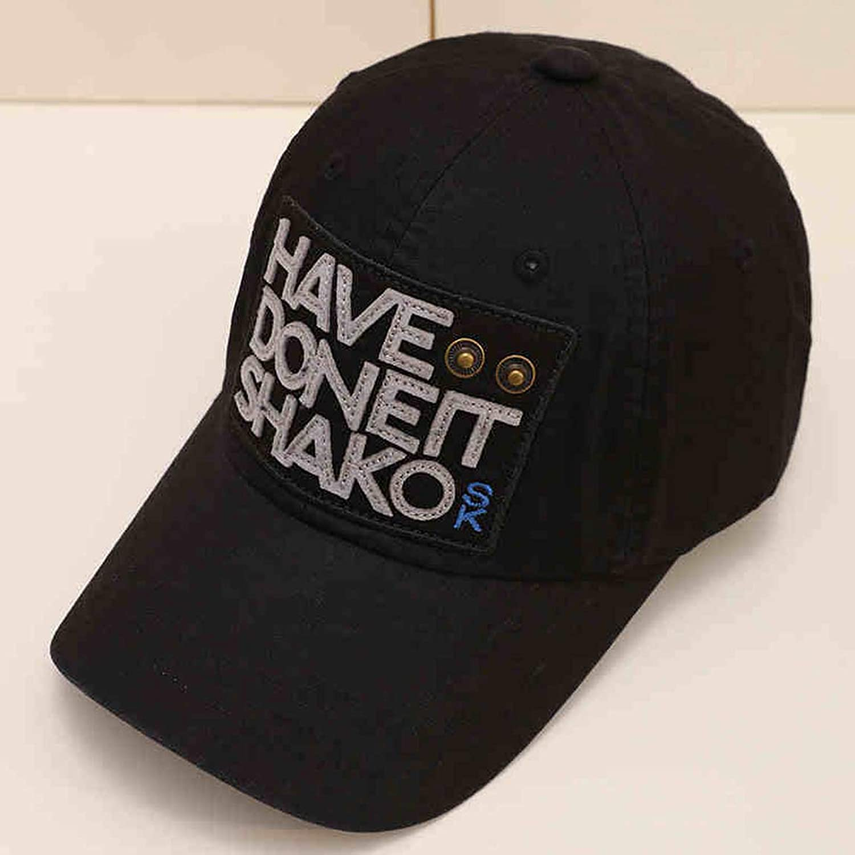 HZB Fashion Black Baseball Cap Outdoor Leisure Sports Cycling Sun Hat