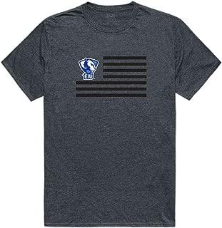 Eastern Illinois University Panthers NCAA Flag Tee T-Shirt Heather Charcoal