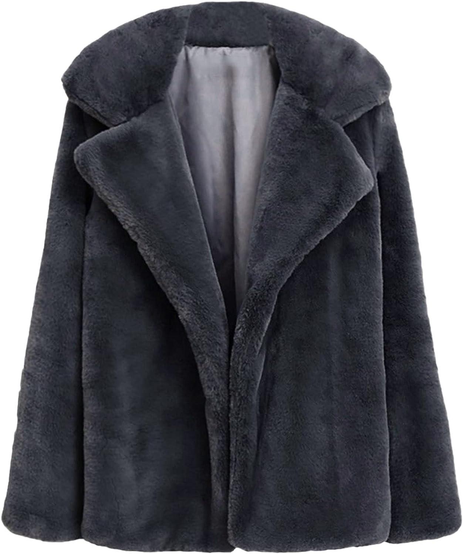 Women Winter Solid Warm Thick Coat Long Sleeve Jacket Cardigan C