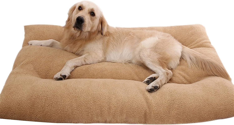 qing yun Almohada ortopédica para cama de perro, desmontable y lavable, felpa, cálida alfombrilla de sofá para mascotas de tamaño mediano y grande, perros y gatos (M 70 x 50 cm)