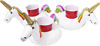 GoFloats Inflatable Pool Drink Holders (3 Pack) Designed in The US | Huge Selection from Unicorn, Flamingo, Palm and More ...