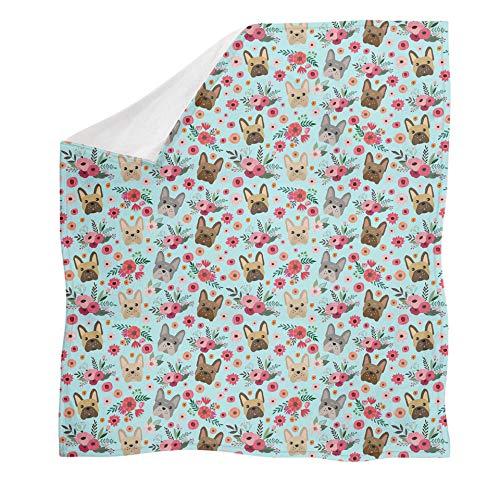 Agroupdream - Mantas suaves para adultos y niños, cálidas y ligeras para decoración de sofá cama, Boston Terrier., 45