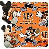 NFL Cincinnati Bengals Mickey Hugger Pillow & Fleece Throw Blanket Set, 40' x 50'