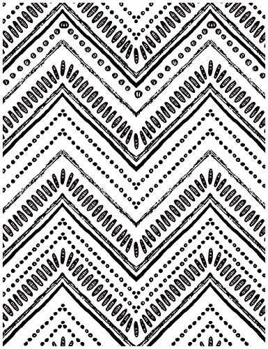 HaokHome 96022-1 Modern Circle Oval Stripe Peel and Stick Wallpaper Black White Vinyl Self Adhesive Contact Paper Decorative 17.7'x 9.8ft