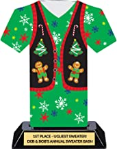 Ugly Christmas Sweater Trophy - Tacky Sweater Party Award