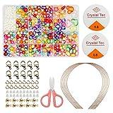 Perlen-Set für Kinder, 24 verschiedene Arten und Formen, für Halsketten, Bastelarbeiten und...