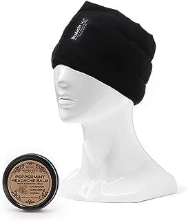 HEADACHE HAT + Svasthya Headache Balm Bundle -The Original Wearable Ice Pack for Migraine & Headache Relief, Peppermint Headache Balm, All Natural, Aromatherapy, 1 ea