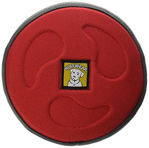 RUFFWEAR - Hover Craft Flying Disc for Dogs, Red Currant, Small