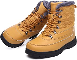 Qiucdzi Womens Winter Snow Boots Waterproof Comfortable Ankle Boot Warm Fur Lined Short Booties Anti-Slip Outdoor Shoes