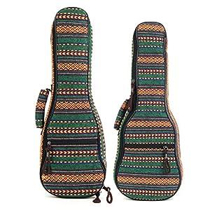 BASDW 21 23-Zoll-traditionelle Ukulele-Kasten-weiche gepolsterte tragen Schützen-Rucksack-Abdeckungs-Gig Bag BASDW