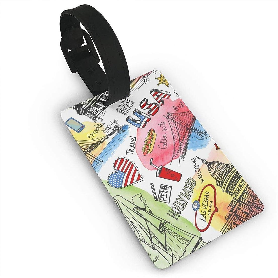 ミスぺディカブコスト荷物タグ スーツケース ネームタグ 紛失防止 スーツケースタグ 出張 旅行用 ネームホルダー 番号札 - カラフル