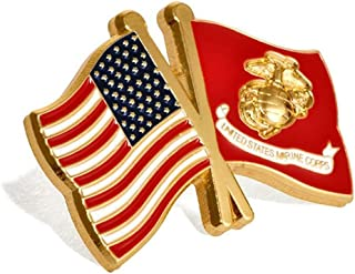 USA and USMC Marine Corps Flags Lapel Pin