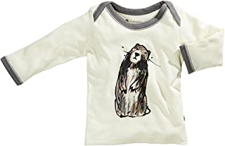 Babysoy Baby Long Sleeve Lounge Tee (18-24 Months, Marmot)