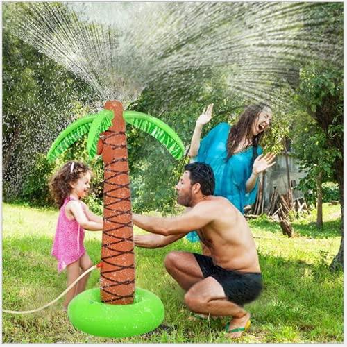Conductor del PVC del árbol de coco de la simulación, juguete al aire libre del rociador de la activación del niño/del niño