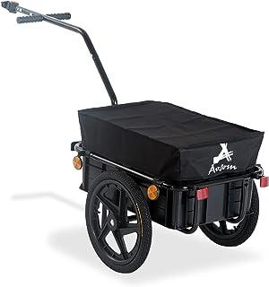 Aosom Multi-Functional Bicycle Cargo Trailer Steel Large Bike Luggage Cart Carrier Black