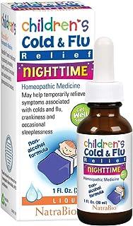 Natrabio Children's Cold & Flu Relief Nighttime, 1 Fluid Ounce