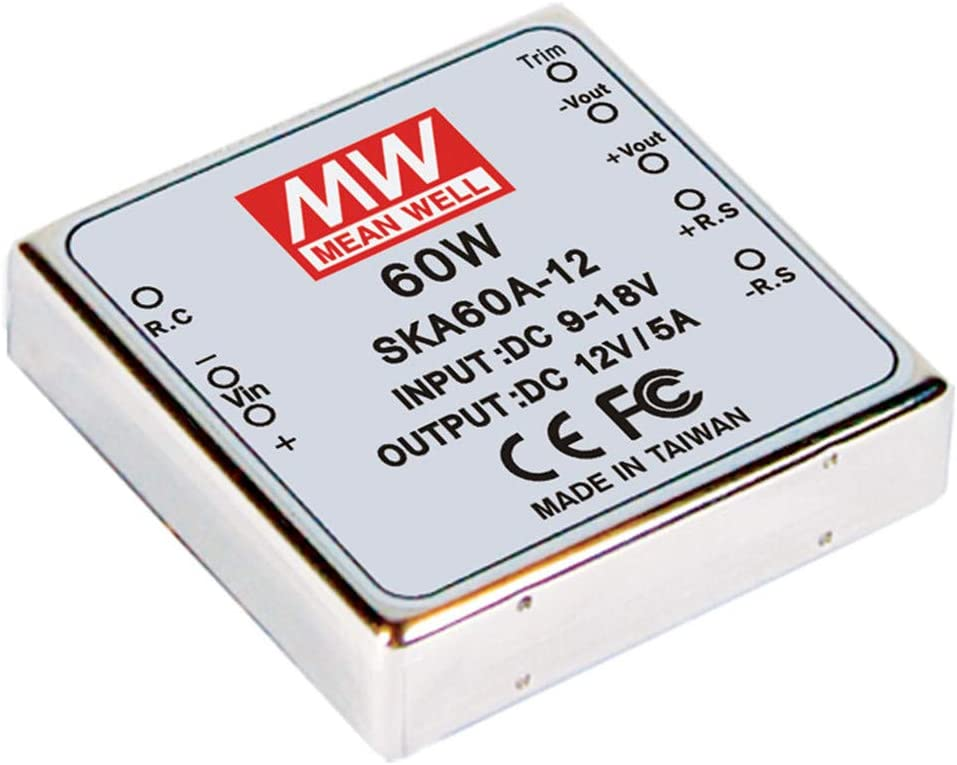 MEAN WELL SKA60B-12 12V 0.5~5.5A 60W DC-DC Regulated Single Output Converter DC/DC Converter