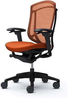 オカムラ オフィスチェア コンテッサ セコンダ 可動肘 ハイバック ウレタンキャスター仕様 クッション オレンジレッド CC83ZR-FPD8