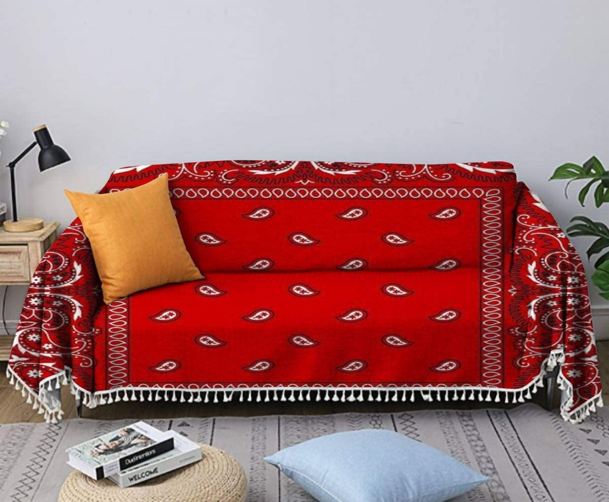 Bandana Red Sofa Dealing full price reduction Towel Cover Chair and Linen Some reservation W Cotton Slipcovers