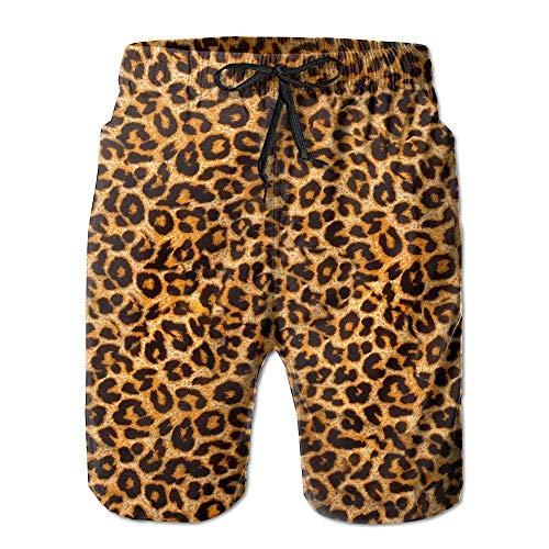 Jhonangel Beach Surfers Jungen Herren Leopard Sommer Schnelltrocknende Badehose Shorts Hose L