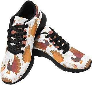 INTERESTPRINT Women's Cross Trainer Trail Sneakers