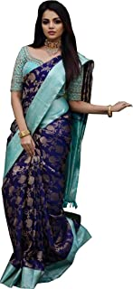 Applix Style Women's Kanjivaram Silk Saree With Blouse Piece