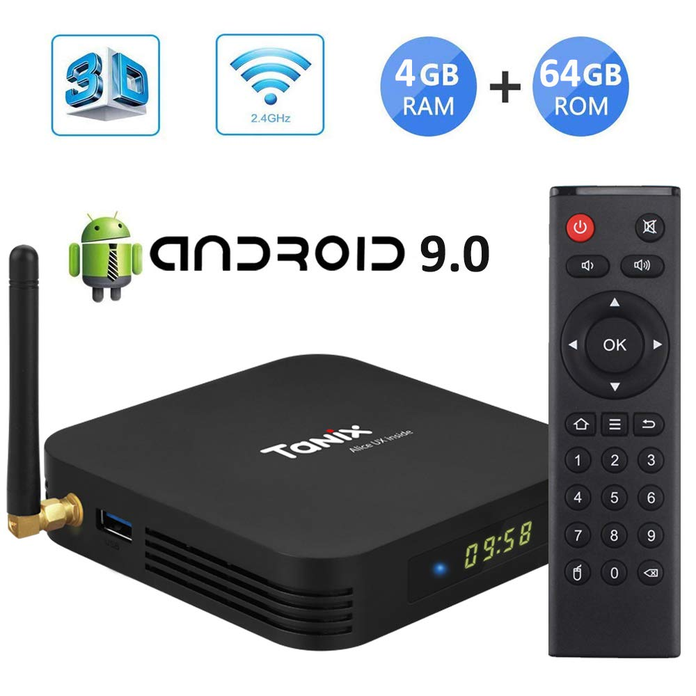 Sofobod Android 9.0 TV Box Tanix TX6 Smart TV Box 4GB RAM/64GB ROM 4K TV Allwinner H6, up to 1.5 GHz, Quad Core Arm Cortex-A53 H.265 Decoding 2.4GHz/5GHz WiFi: Amazon.es: Electrónica