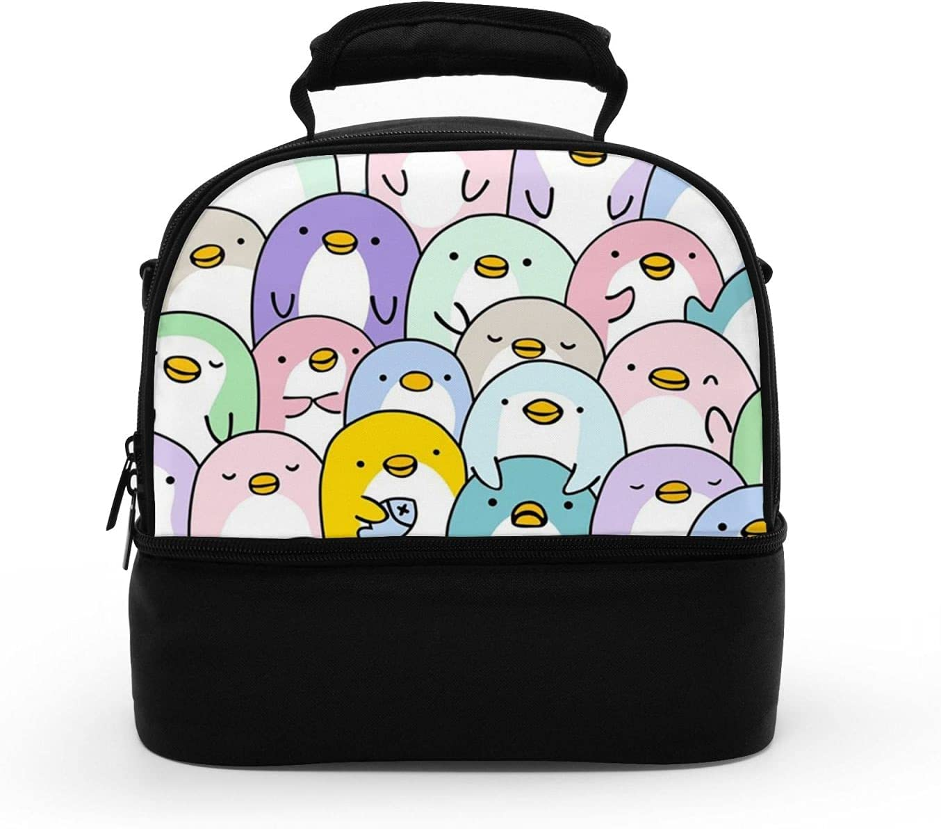 A surprise price is realized Work lunch bags Sale Special Price for women Penguin Portable Lunc Bag Kawaii Lunch