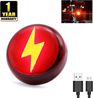 SYOSIN Bike Tail Light, Safety Light 120 Lumens Super Bright 5 Light Modes IPX5 Waterproof USB Rechargeable for Cycling, Running, Dog Collar High Intensity LED Bicycle Rear Light