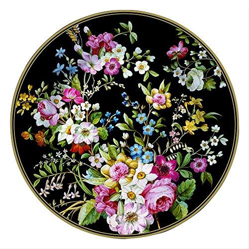 JD Diffusion 1361BLOB - Piatto da portata Blooming, colore: Nero