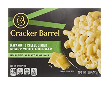 Cracker Barrel Sharp White Cheddar Macaroni and Cheese Dinner (14 oz Box)