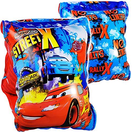 alles-meine.de GmbH 2 TLG. Set _ Schwimmflügel / Schwimmärmel - aufblasbar -  Disney Cars - Auto  - 2 bis 6 Jahre - jeweils 2 Luftkammern ! - Schwimmhilfe - für Jungen - Kinder..
