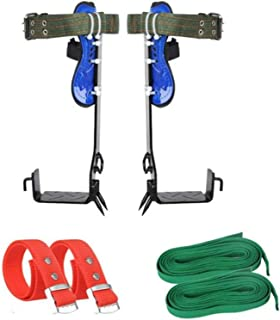 Tberar Tree Climbing Gear 6 in One Tree Climbing Spike Set Tree Spikes for Climbing Safety Adjustable Belt Lanyard Rope Re...